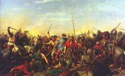 The Battle at Stamford Bridge by Peter Nicolai Arbo