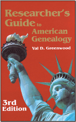 Researcher's Guide to American Genealogy cover